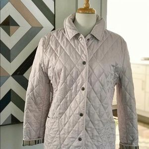 Pale blush Burberry quilted jacket